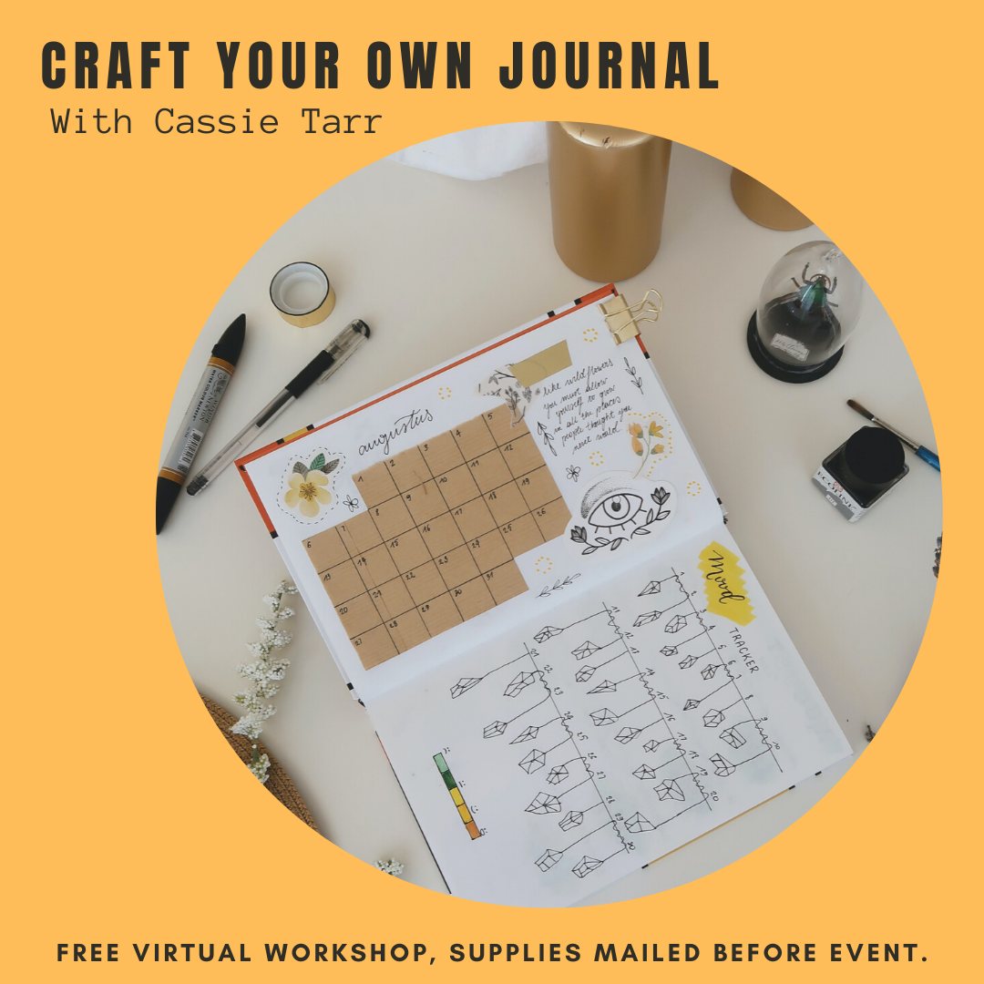 link to register for craft your own journal workshop